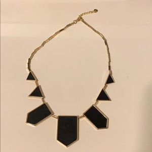 House of Harlow Geometric Leather Necklace Gold